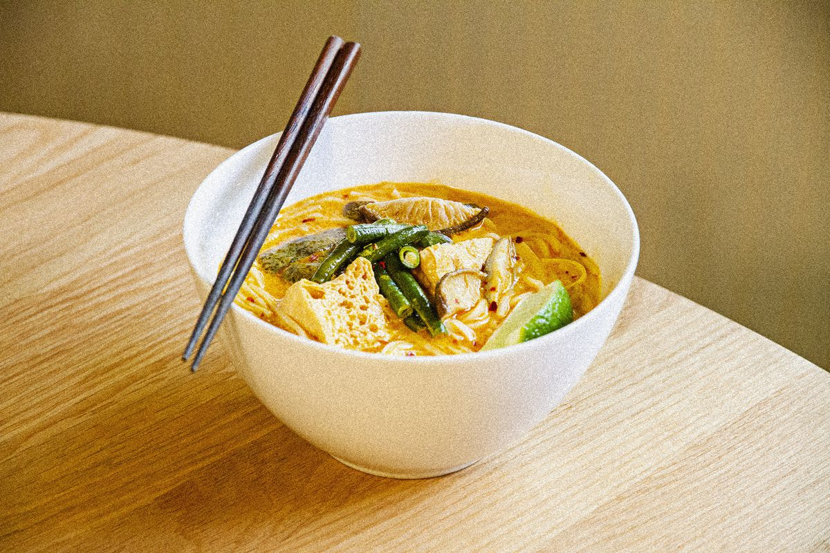 The laksa curry noodle soup from Chop Chop
