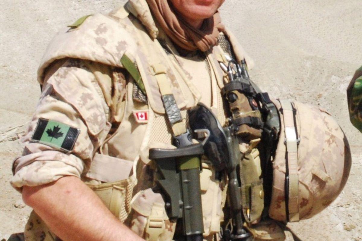 Lt. Col. Ed Staniowski in uniform on deployment in Afghanistan.