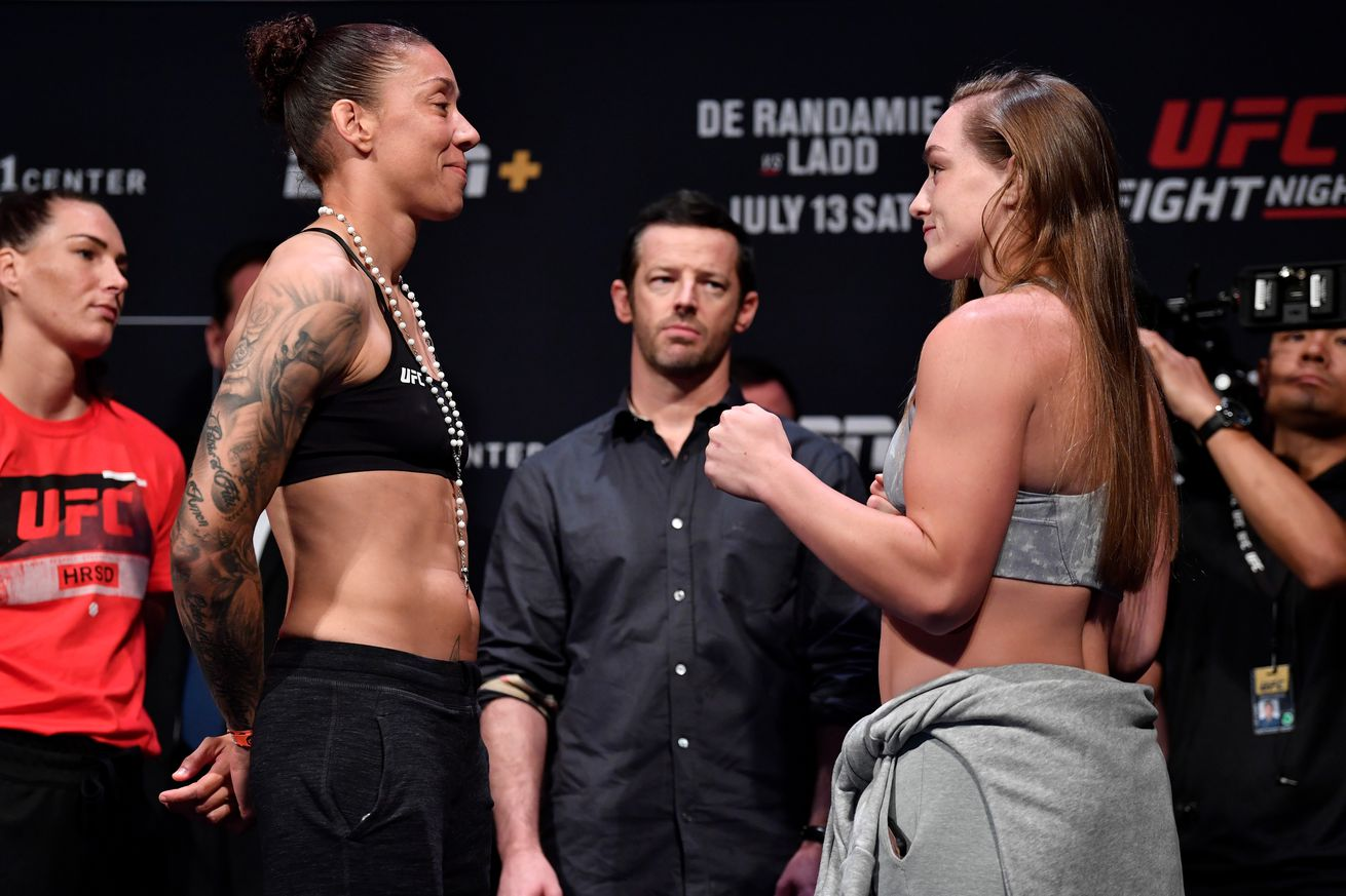 Germaine de Randamie and Aspen Ladd will square off in the UFC Sacramento main event.