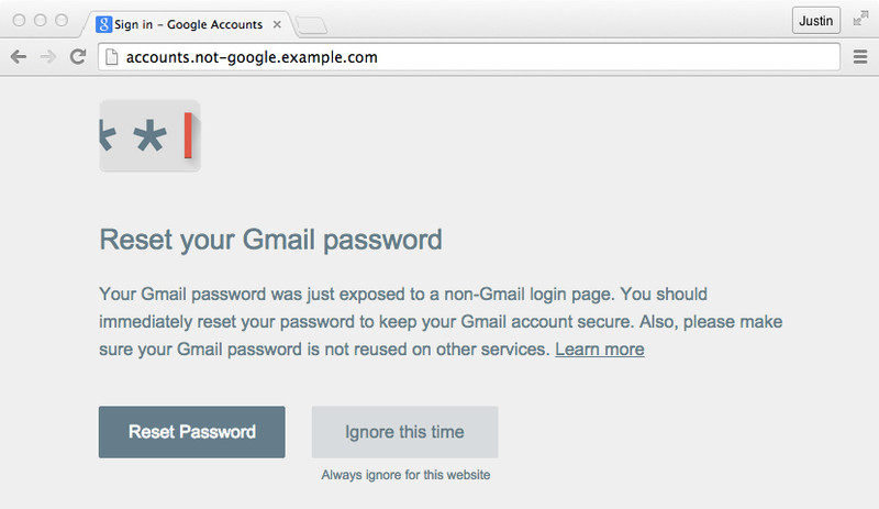 anyone administering a google for work account can also make password alert mandatory across their domain any time an employee gets an alert