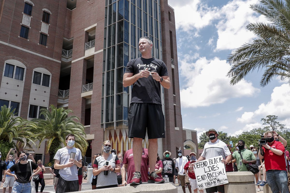 Florida State Football Program Leads a Unity Walk in Tallahassee