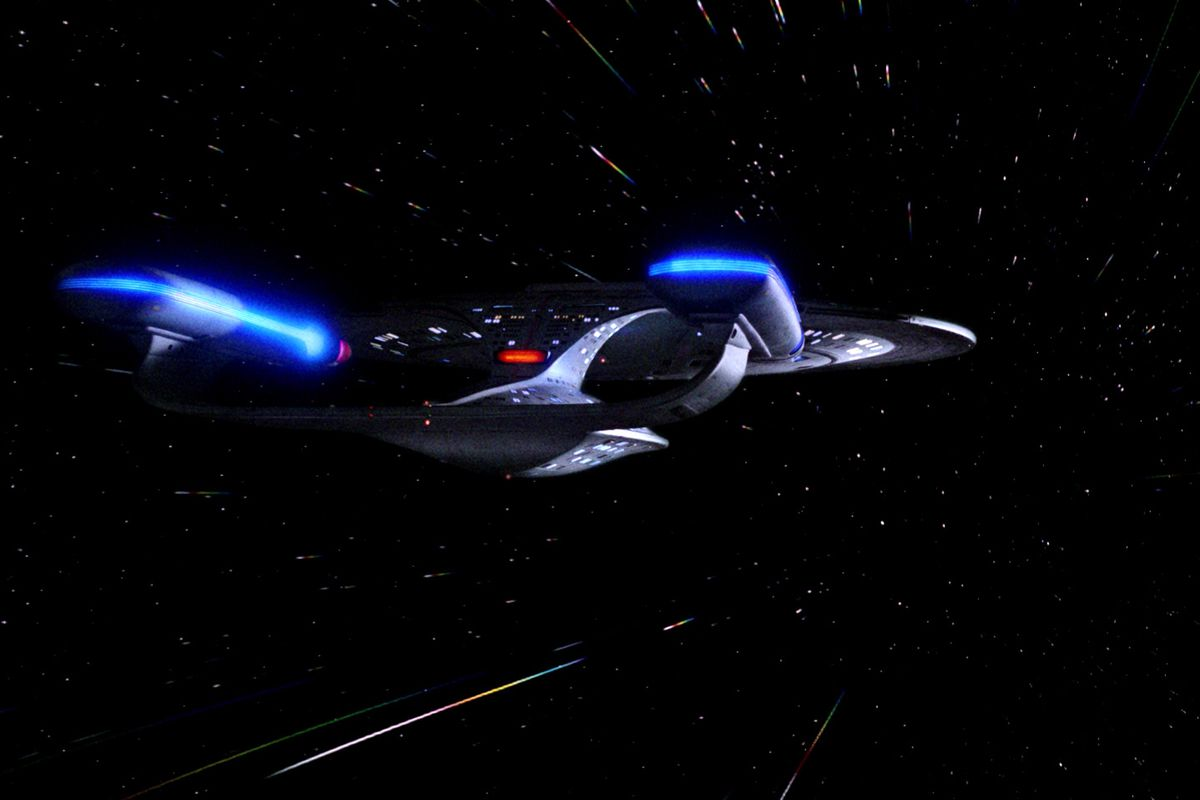 Look out. Here comes the Enterprise.