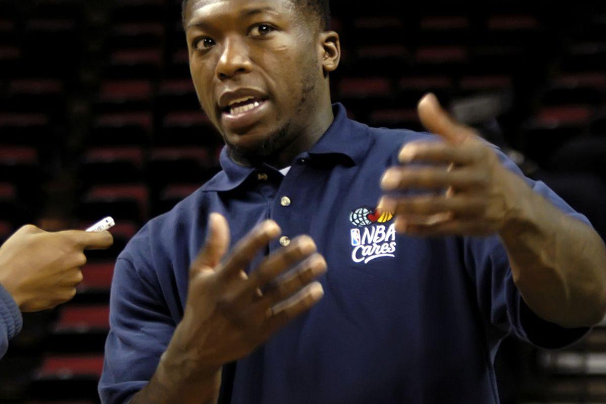 Boston Celtics guard Nate Robinson at last week's WNBA Fit Clinic in Seattle.