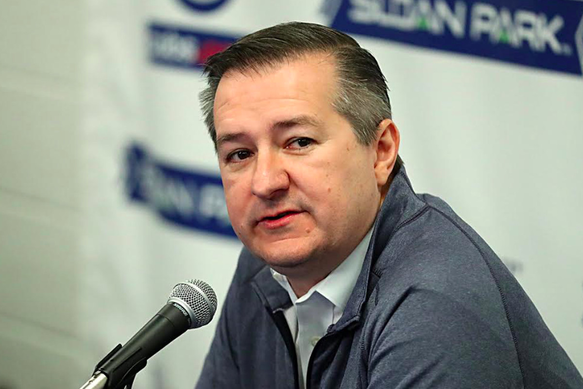 Cubs chairman Tom Ricketts meets with media Monday.