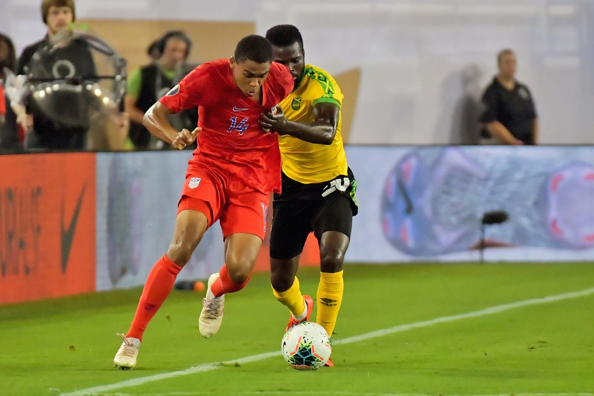 Soccer: CONCACAF Gold Cup-Jamaica at USA