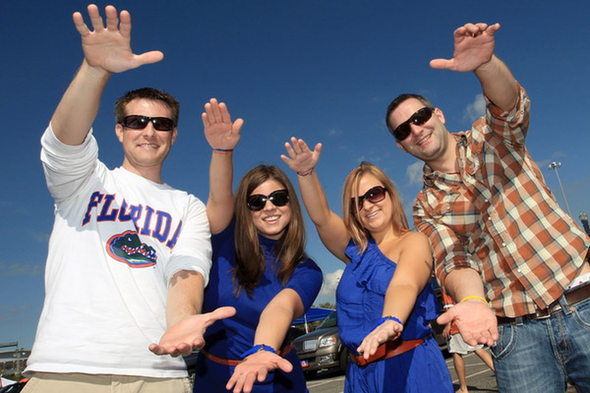 JACKSONVILLE FL - OCTOBER 30:  Fans tailgate at EverBank field prior to the game between the Georgia Bulldogs and the Florida Gators on October 30 2010 in Jacksonville Florida.  (Photo by Sam Greenwood/Getty Images)