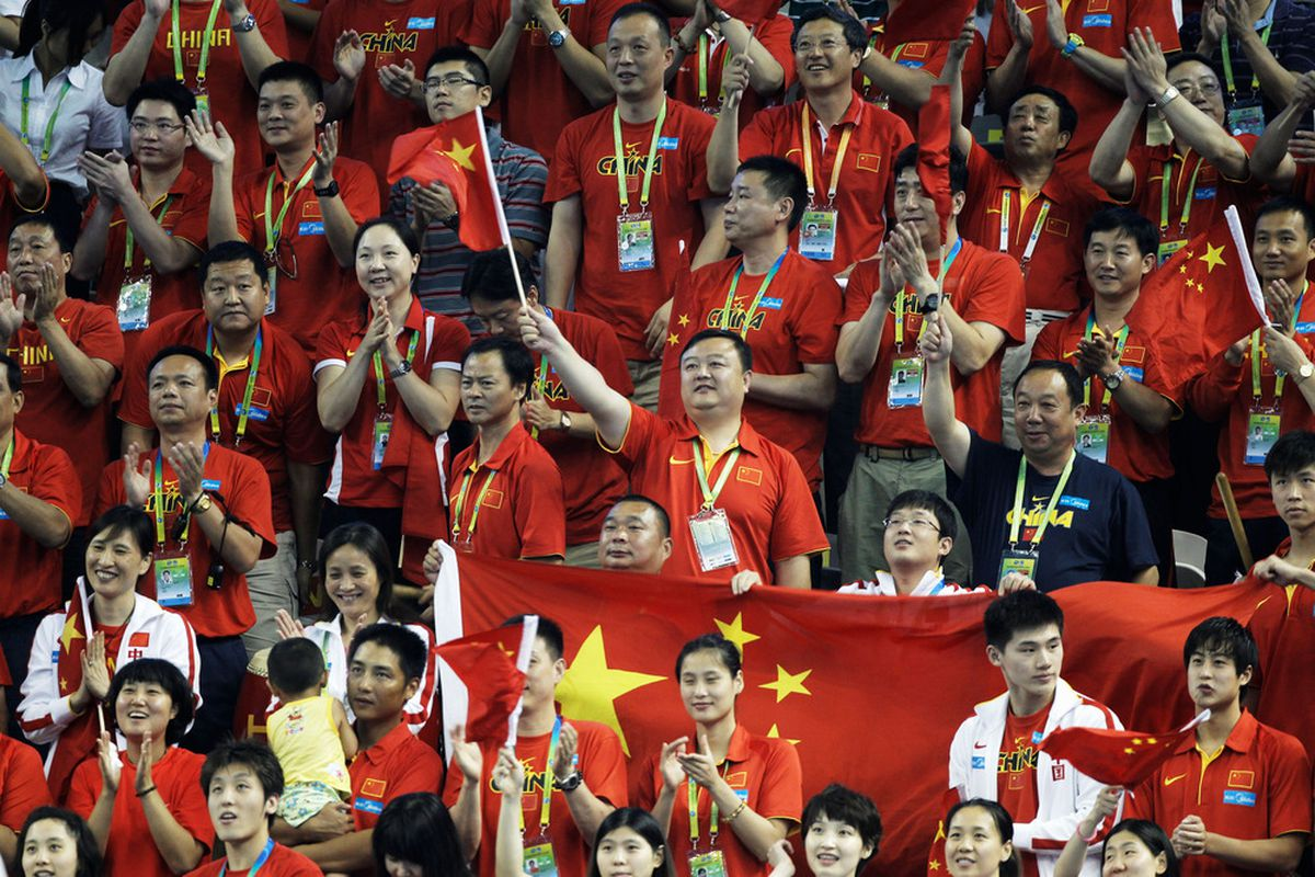 These people would look a lot more casual in Blue and Gray.  (Photo by Lintao Zhang/Getty Images)
