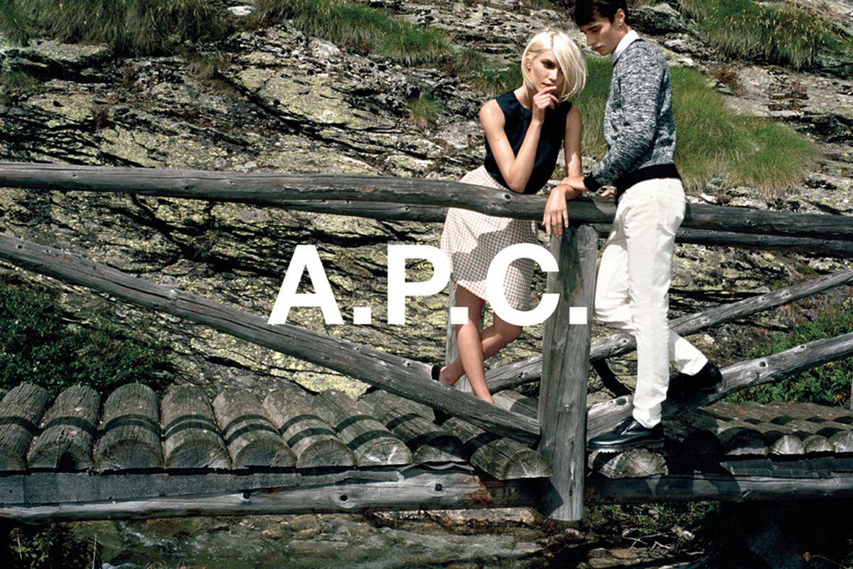"Image via A.P.C./<a href=""http://apcofficial.tumblr.com/post/67370124711/a-p-c-spring-summer-2014-pre-collection-aline"">Tumblr</a>"