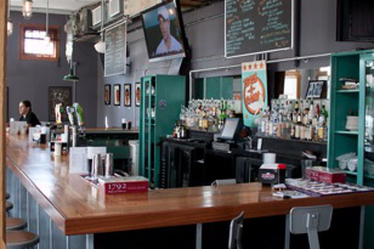The bar at Midway Pizza on Freret.