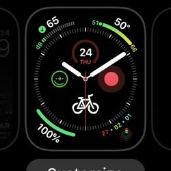 """Tap on """"Customize"""" to tweak your Watch face."""