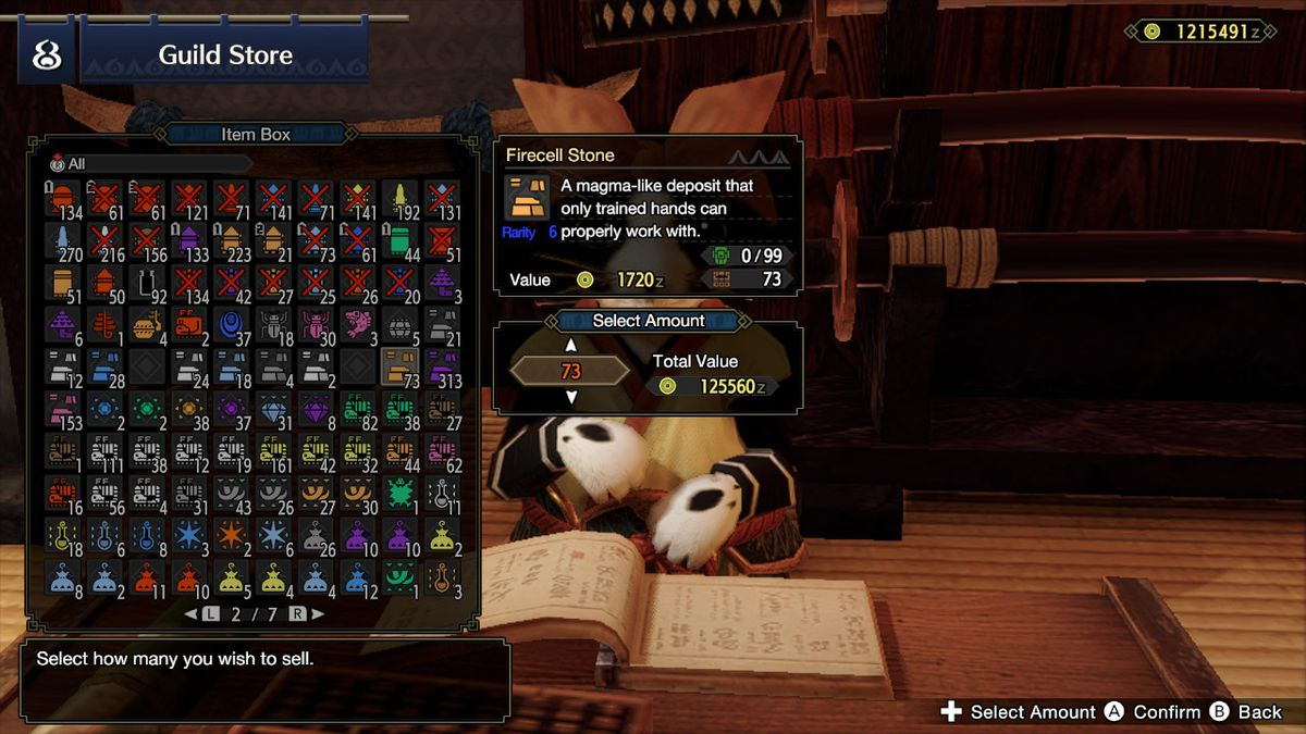 The Guild Store from Monster Hunter Rise
