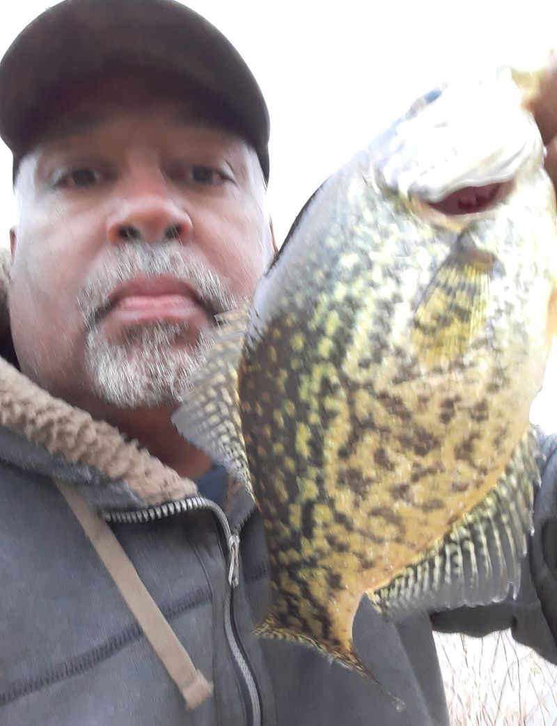 Victor Blackful with a Kankakee River crappie.  Provided photo