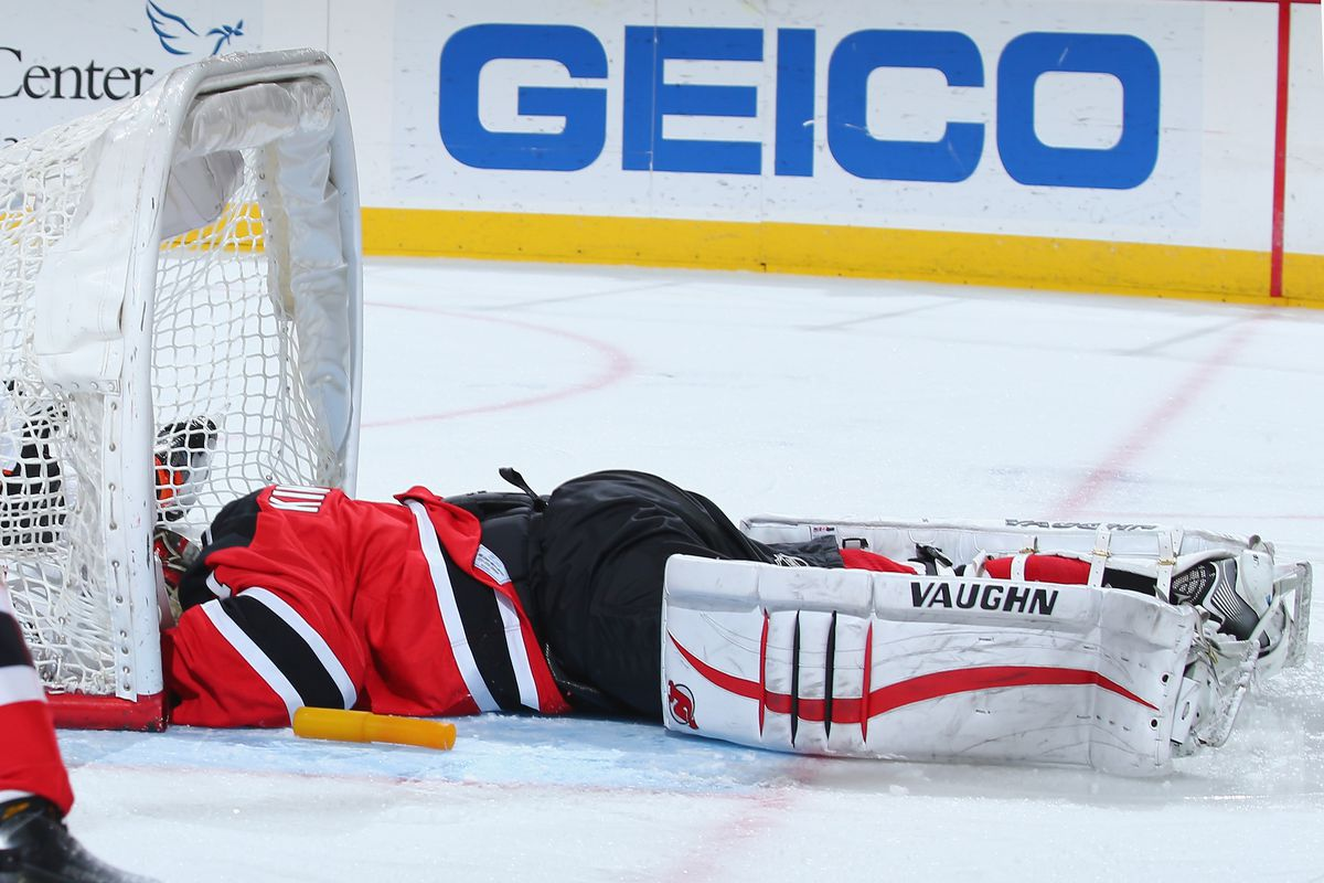 This should have been seen as a sign that it would not be an easy night for Keith Kinkaid or the Devils.