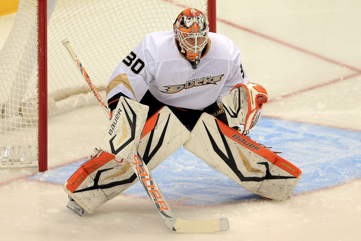 Viktor Fasth picked up his 7th consecutive win last night in his 7th NHL game. He's kind of a big deal. Photo credit