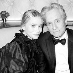 Odd couple? Ashley Olsen and Michael Douglas.
