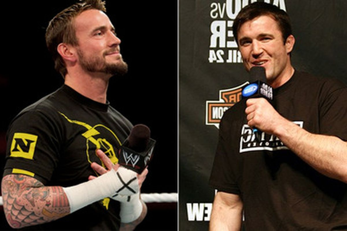 CM Punk (left) and Chael Sonnen (right).
