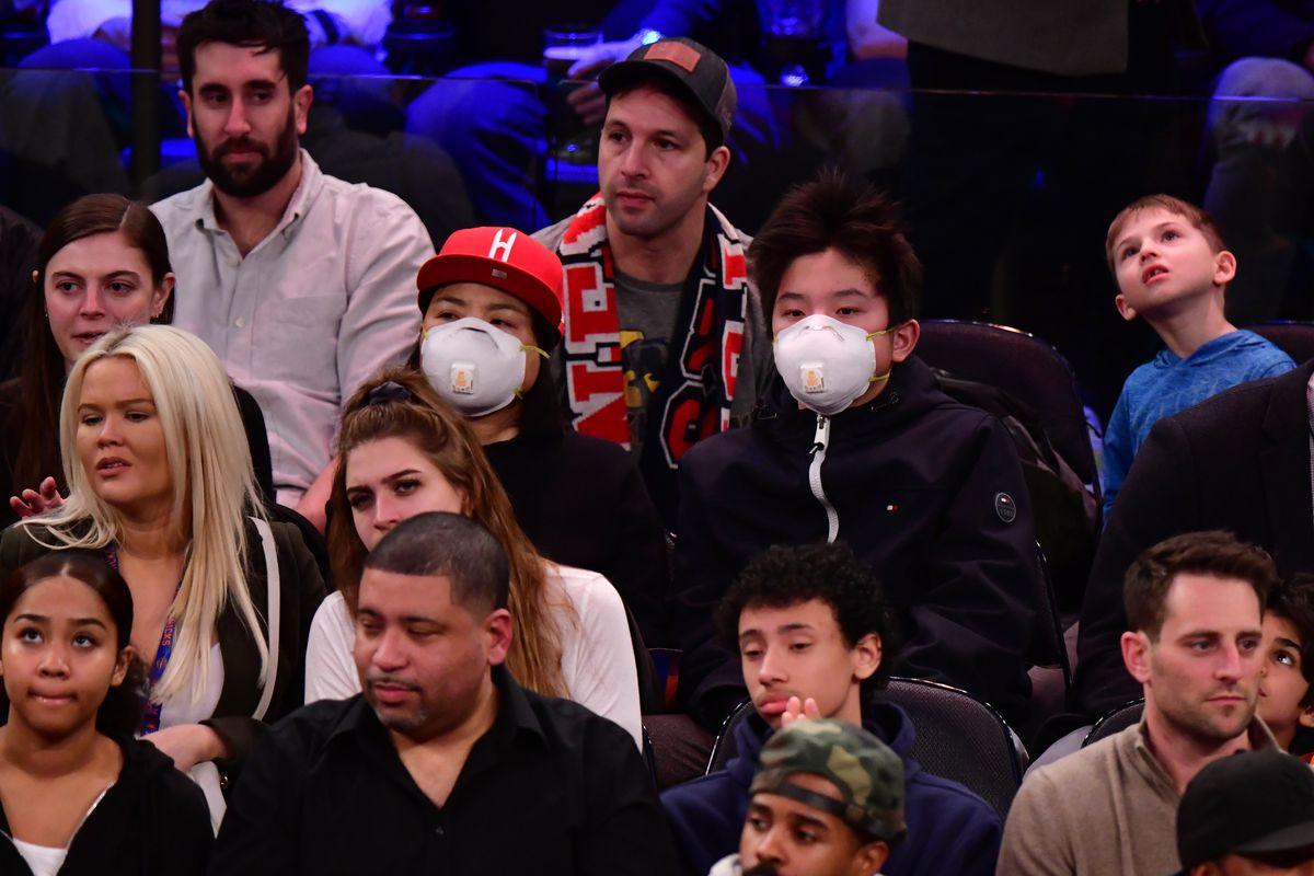 Celebrities Attend Houston Rockets v New York Knicks Game