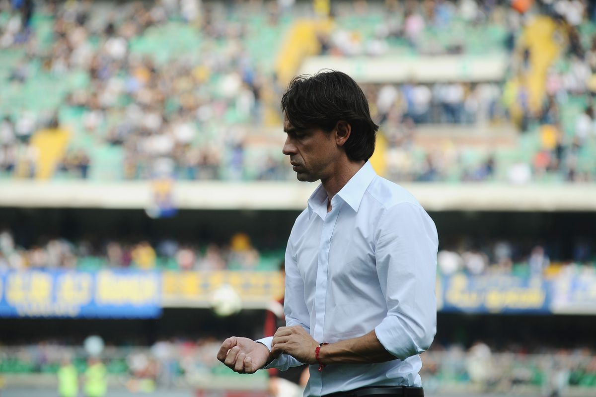 A thoughtful Pippo Inzaghi in Verona