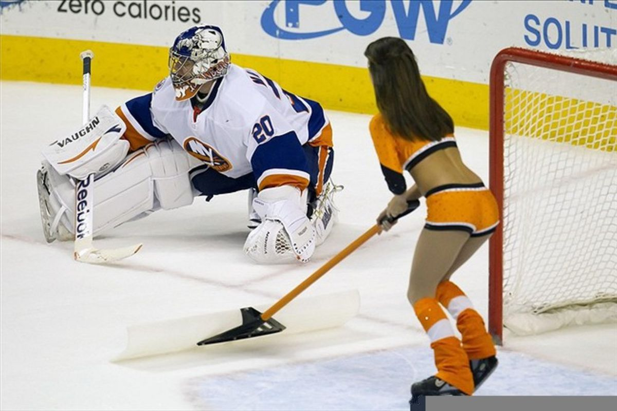 This postseason, Islanders fans can really get behind the Flyers. Yay, brah! High five!