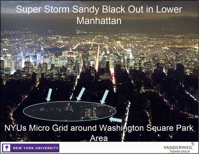NYU's microgrid stayed lit even as Sandy blacked out lower Manhattan.