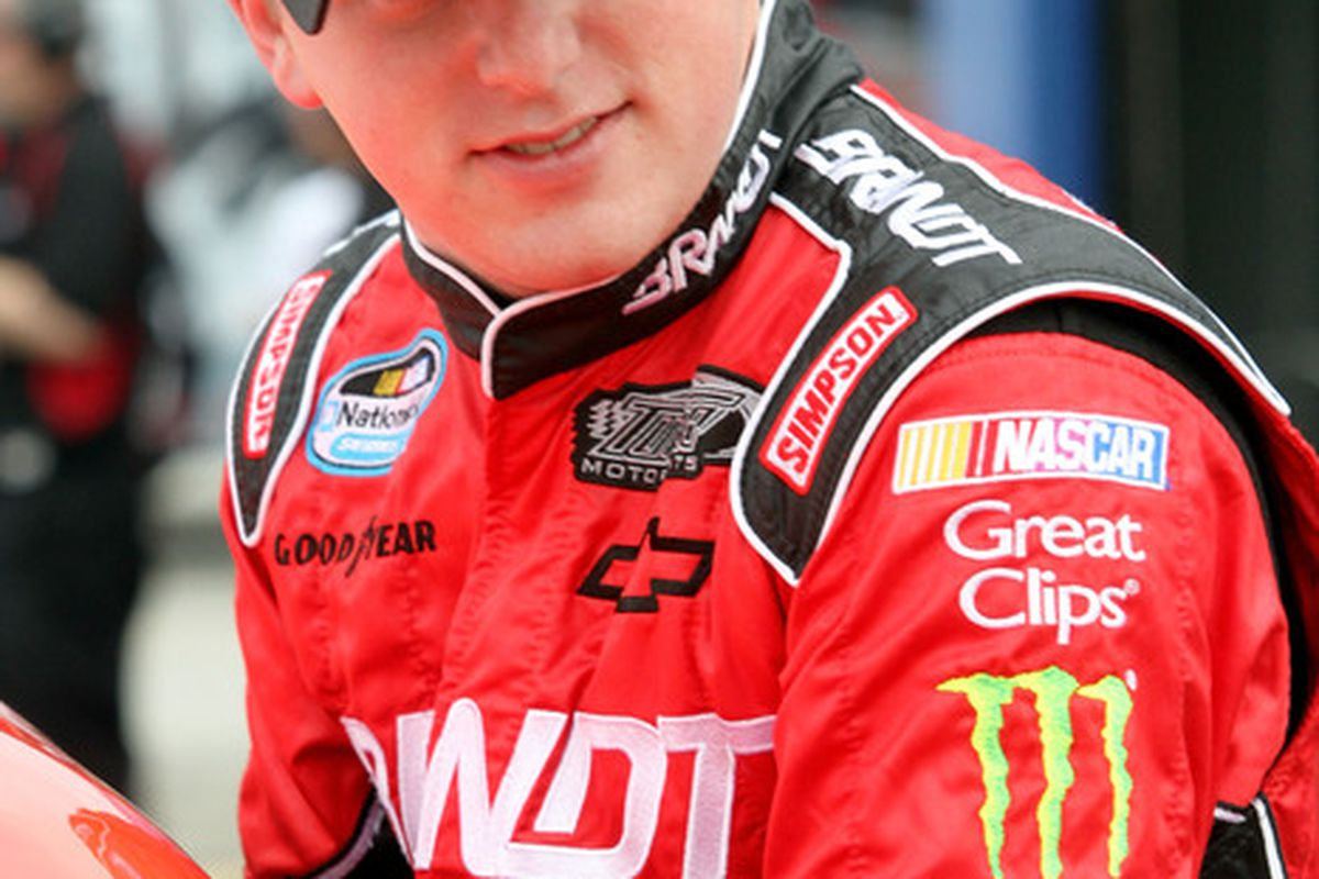 Justin Allgaier finished second in the NASCAR Nationwide Series Sam's Town 300 at Las Vegas Motor Speedway.