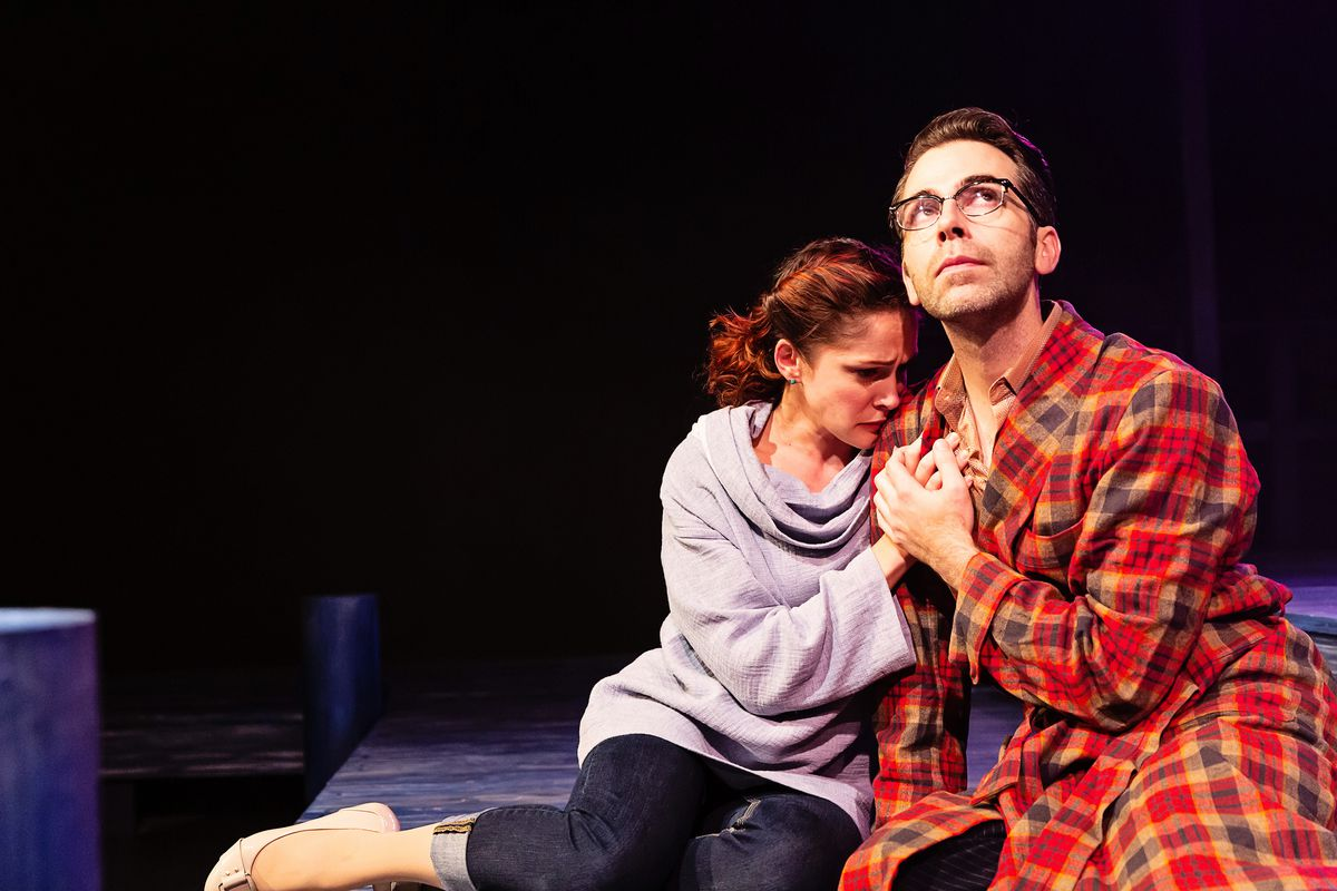 """Kyrie Anderson and Tommy Thurston in a scene from BoHo Theatre's production of """"Big Fish."""""""