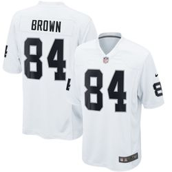 "<a class=""ql-link"" href=""http://sbnation.fanatics.com/NFL_Oakland_Raiders/Antonio_Brown_Oakland_Raiders_Nike_Game_Jersey_%E2%80%93_White?utm_source=NFLFreeAgencyTracker"" target=""_blank"">Antonio Brown Oakland Raiders Nike Game Jersey – White</a> for $99.99"