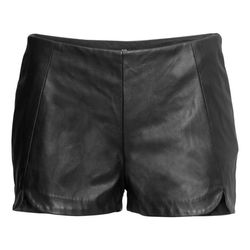 """Imitation leather shorts, $29.95 at <a href=""""http://www.hm.com/us/product/34386?article=34386-A"""">H&M</a>."""