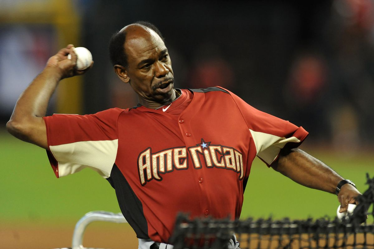 PHOENIX, AZ - JULY 11:  Manager Ron Washington of the Texas Rangers throws batting practice during the Gatorade All-Star Workout Day at Chase Field on July 11, 2011 in Phoenix, Arizona.  (Photo by Norm Hall/Getty Images)