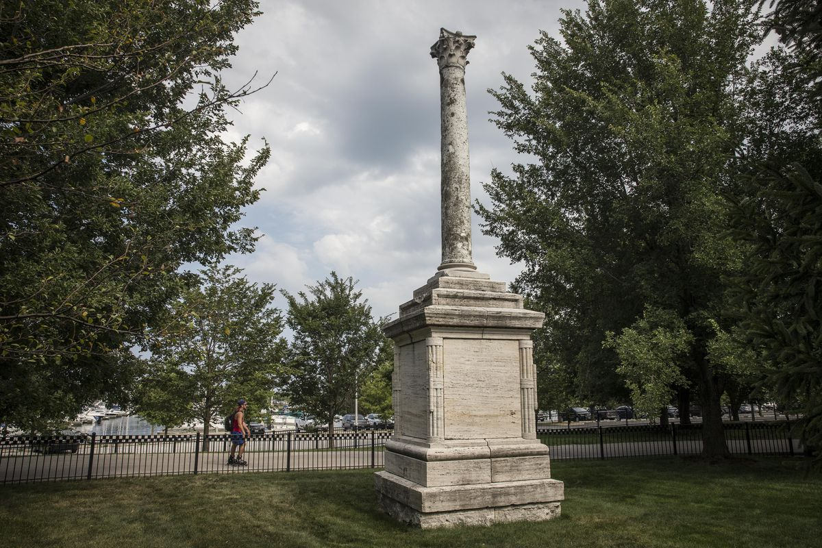 The Balbo monument, a gift from fascist dictator Benito Mussolini in 1933, just east of Soldier Field, near Burnham Harbor. | Rich Hein/Sun-Times