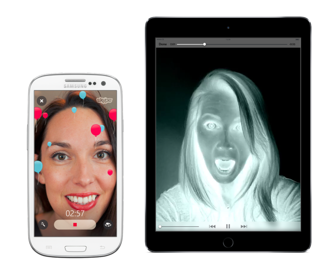 Skype video messages filters