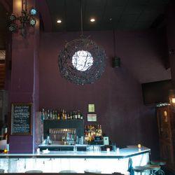 Custom bar downstairs.