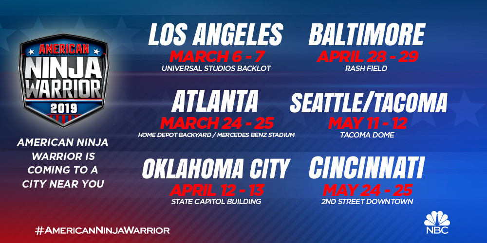 American Ninja Warrior: Season 11 locations and taping dates