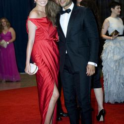 John Legend and Chrissy Teigen arrive at the White House Correspondents' Association Dinner on Saturday, April 28, 2012 in Washington.