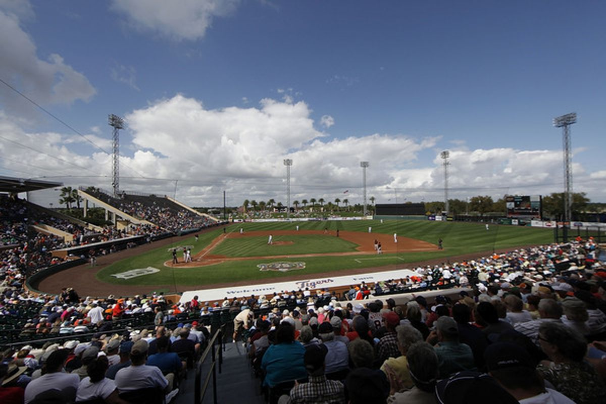 LAKELAND, FL - MARCH 04: Joker Marchant Stadium during the game between the Baltimore Orioles and the Detroit Tigers on March 4, 2011 in Lakeland, Florida. The Orioles defeated the Tigers 6-2. (Photo by Leon Halip/Getty Images)