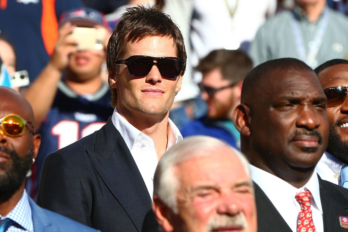 Pictured: How Tom Brady will be watching this game.