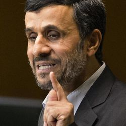 Iranian President Mahmoud Ahmadinejad addresses the 67th United Nations General Assembly, at U.N. headquarters, Wednesday, Sept. 26, 2012.