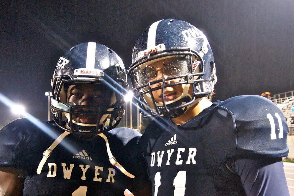 Ohio State boss Urban Meyer was in Florida to visit 2014 WR Johnnie Dixon (#1) and others Monday.