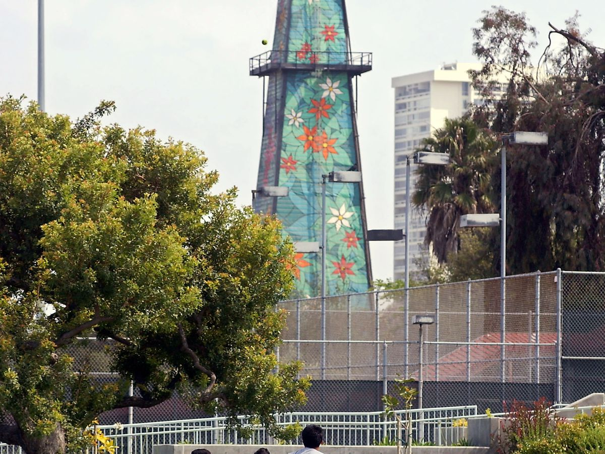 Beverly Hills High oil tower