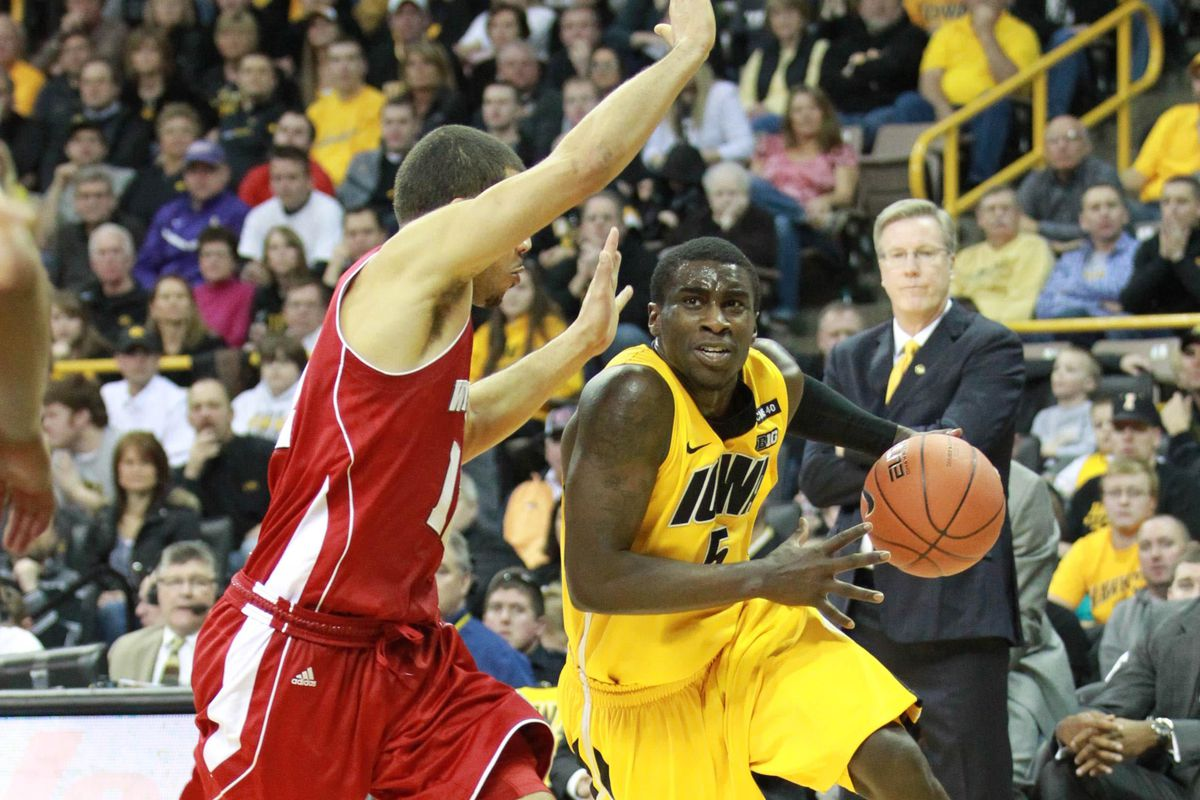 Freshman Anthony Clemmons was one of four Hawkeyes in double figures Saturday.