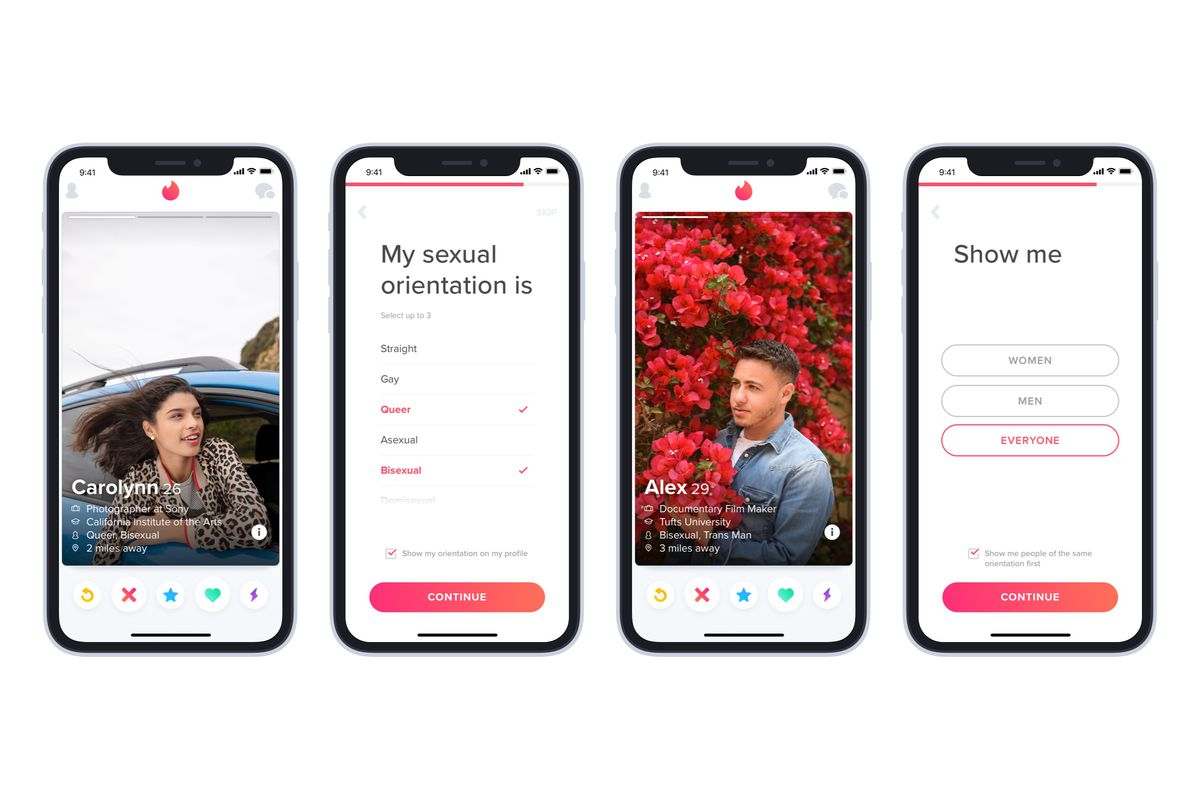 Tinder Now Lets People Identify Their Sexual Orientation The Verge