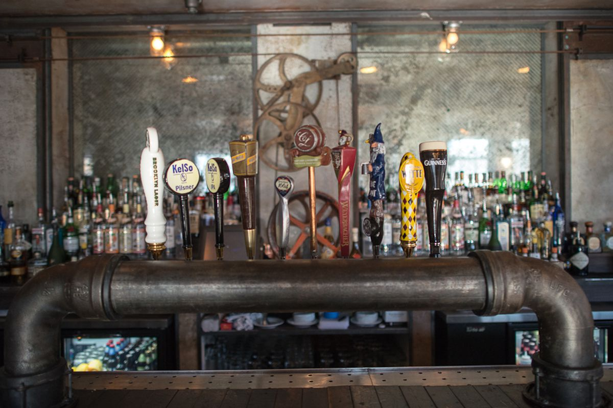 [The bar at Boulton & Watt in the East Village]