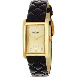 """The perfect classic watch is $195 at <a href=""""http://www.katespade.com/cooper-grand-strap/1YRU0120,en_US,pd.html?dwvar_1YRU0120_color=756"""">Kate Spade</a>"""