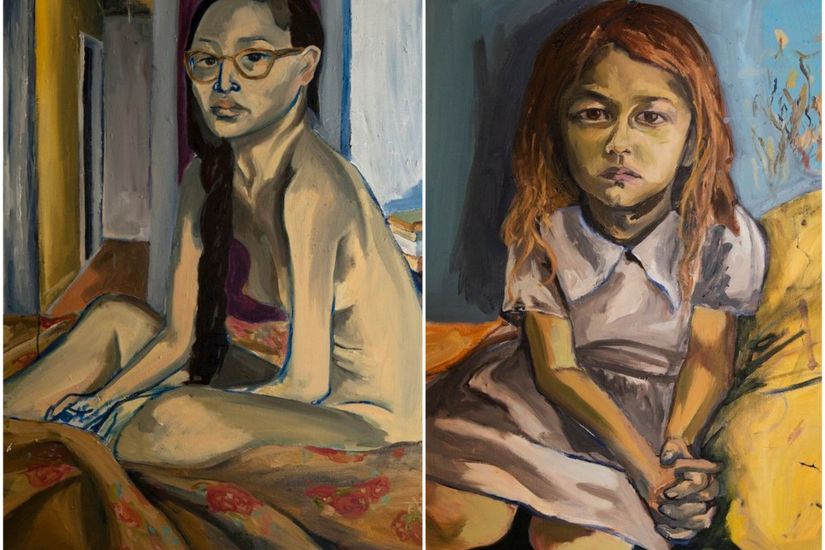 A paintings by Jemima Kirke via Fouladi Projects