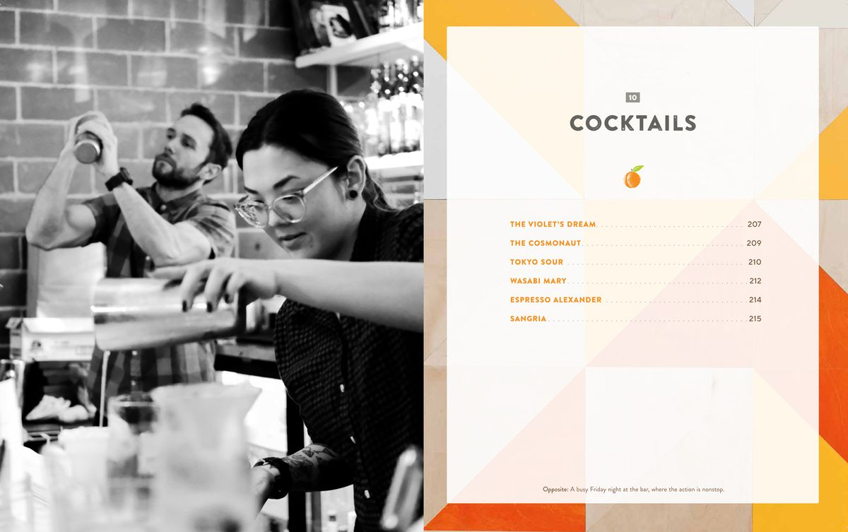 The introduction to the cocktails section in The Peached Tortilla