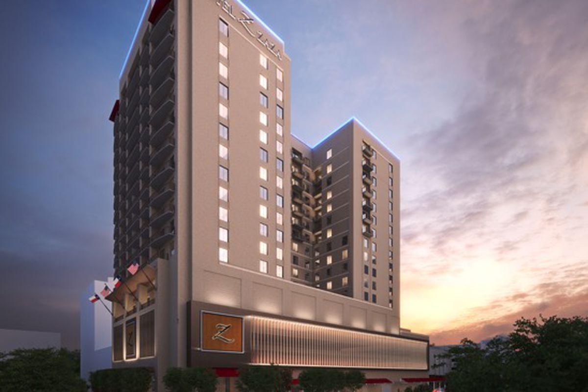 Rendering For Hotel Zaza Memorial City Metronational