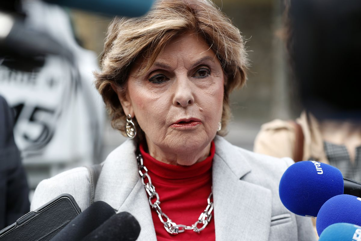 American lawyer Gloria Allred gives a press conference, in Paris, Tuesday, May 28, 2019.