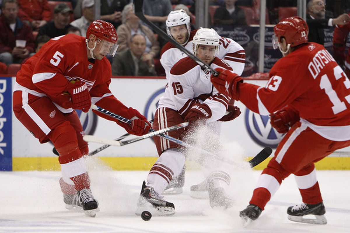 This is what teams are going to have to try to get the puck through in the playoffs against Detroit