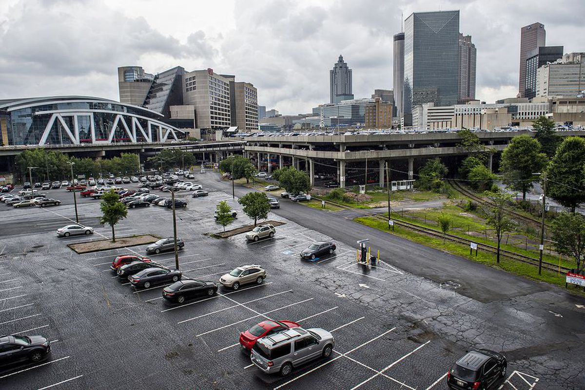 A photo of the unsightly Gulch area in downtown Atlanta.