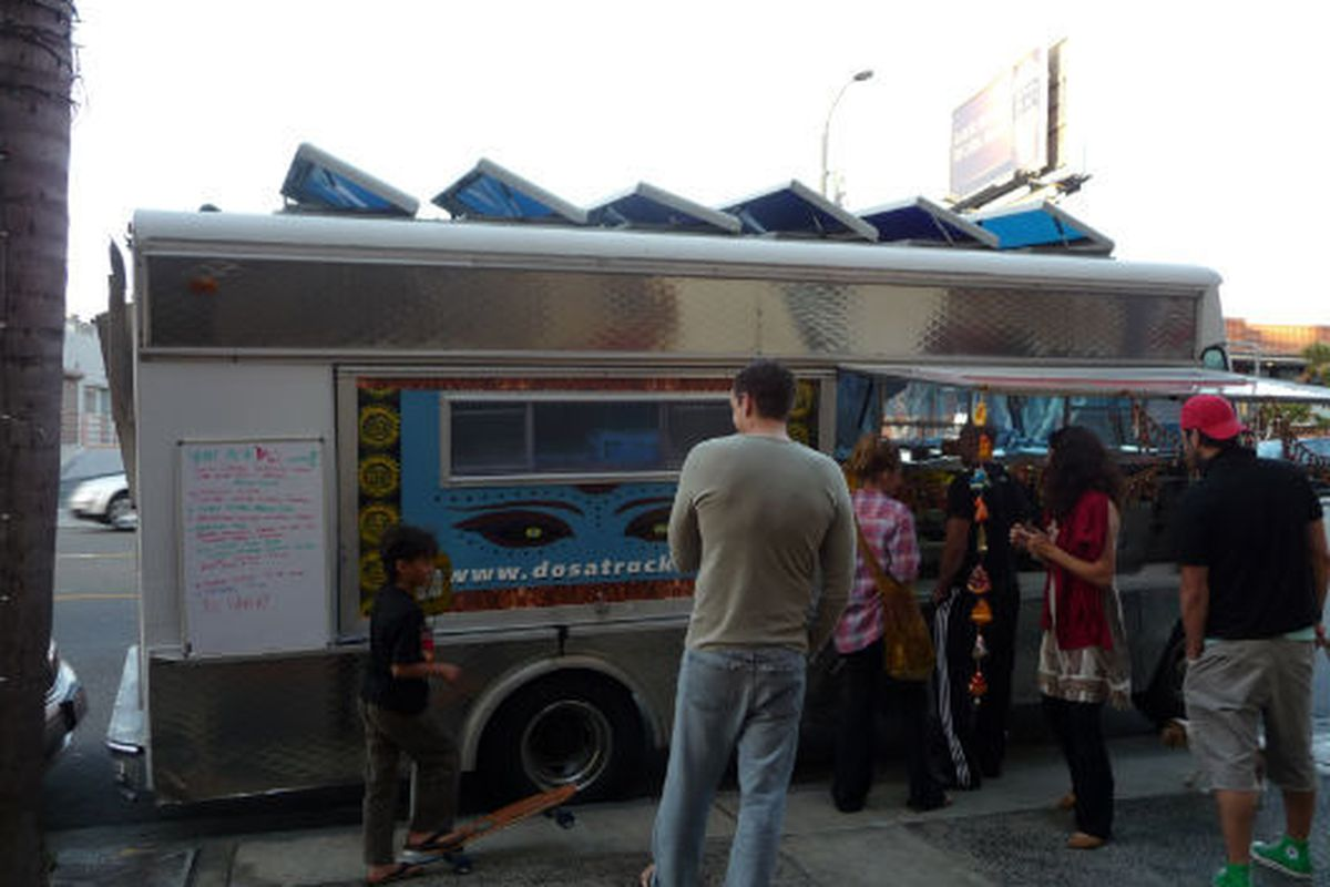 Spotted: Dosa Truck, Wednesday 7:27p, Santa Monica.